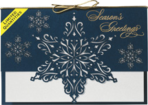 Star of Snow Laser Cut Holiday Cards
